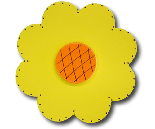 Satin Yellow Lolli Flower Drawer Pull   One World   OW-DP32044