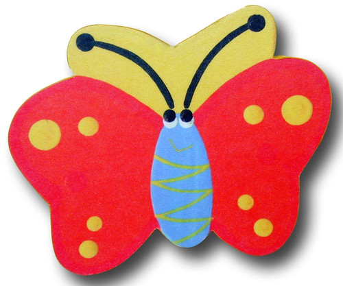Orange Butterfly Drawer Pull 1 | One World | OW-DP506
