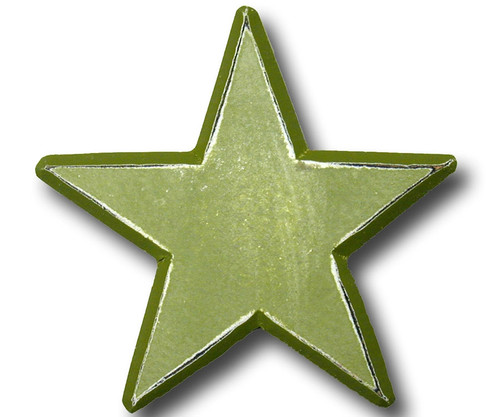 Distressed Green Star Drawer Pull | One World | OW-DP582