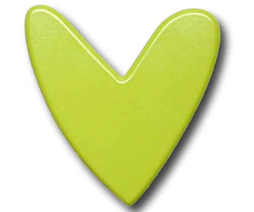 Lime Heart Drawer Pull | One World | OW-DP592