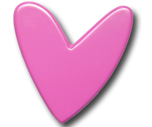 Fucshia Heart Drawer Pull | One World | OW-DP593