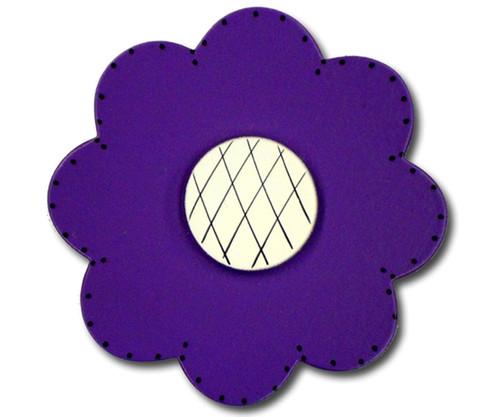 Satin Dark Purple Lolli Flower Drawer Pull   One World   OW-DP74036