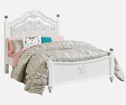 Olivia Upholstered Poster Bed Full Size | Standard Furniture | ST-938529386193863
