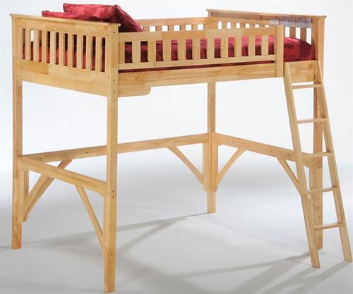 Timber Creek Loft Bed Natural | Night and Day Furniture | TCLOFT-NAT