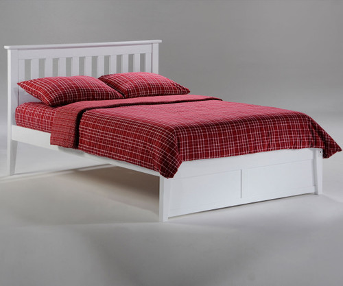 Timber Creek Rosemary Platform Bed White | Night and Day Furniture | TCPB-WH
