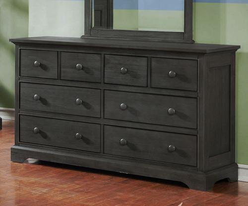 Allen House 8 Drawer Dresser Weathered Dark Gray