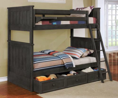 Allen House Brandon Bunk Bed Weathered Dark Gray
