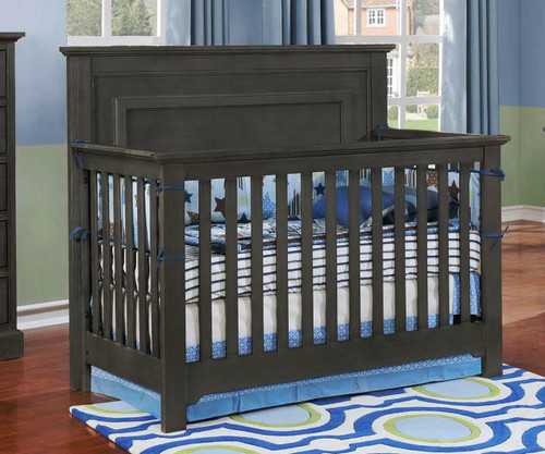 Allen House Waterford Panel Convertible Crib Weathered Dark Gray
