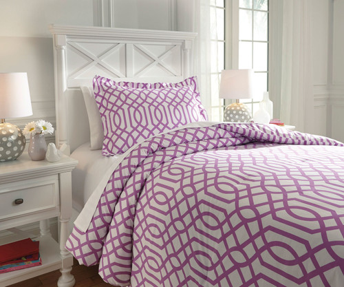 Taylor Bedding Set Lavender