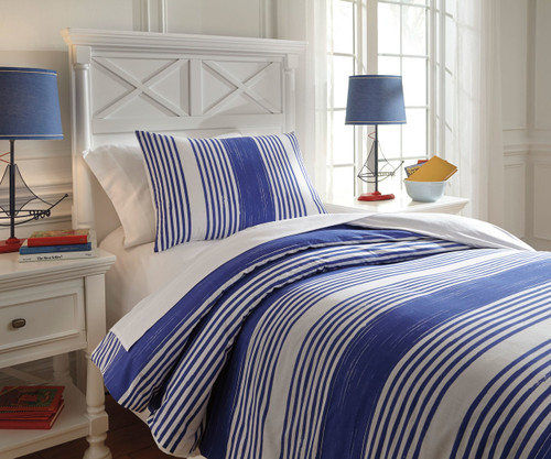 Walson Bedding Set Blue Full Size