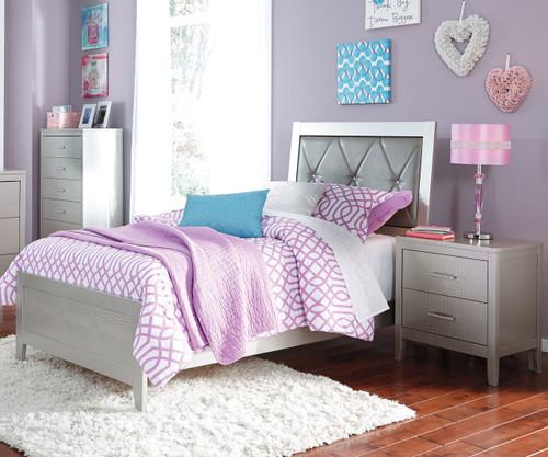 Olivet Upholstered Panel Bed Twin Size