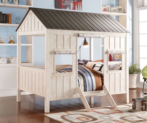 Spring Cottage Bed Full Size Gray