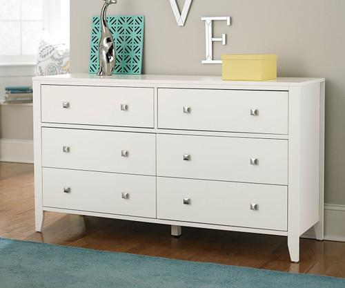 Urbana 6 Drawer Dresser White
