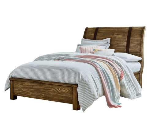 Nelson Sleigh Bed Full Size Toffee