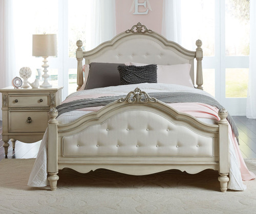Giselle Upholstered Poster Bed Full Size
