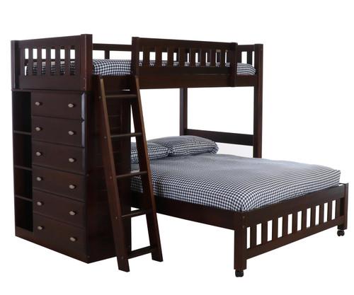 Espresso Twin over Full Loft Bed