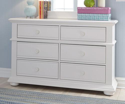 Summer House 6 Drawer Dresser White