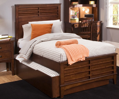 Chelsea Square Panel Bed with Trundle Full Size