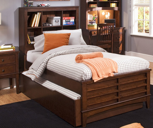 Chelsea Square Bookcase Bed with Trundle Full Size