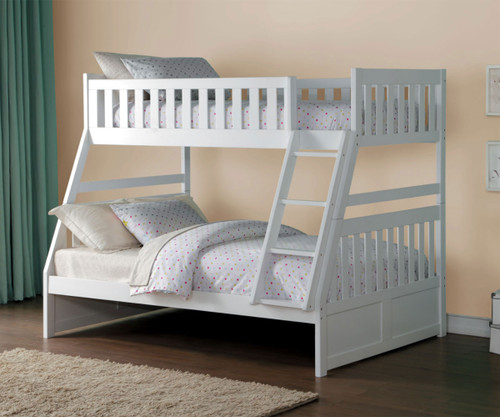 Stanford Twin over Full Bunk Bed White