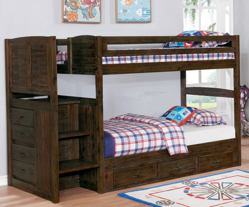 Preston Mission Stair Stepper Bunk Bed