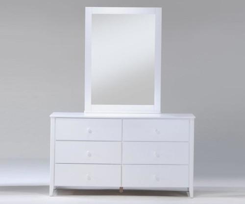 Zest 6 Drawer Dresser White