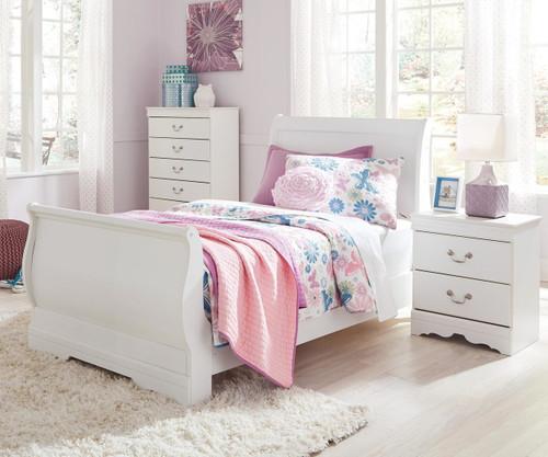 Anarasia Sleigh Bed Twin Size