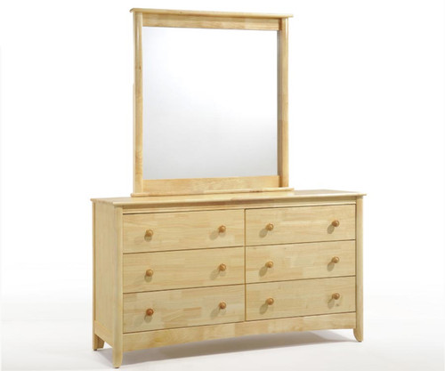 Timber Creek II 6 Drawer Dresser Natural