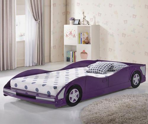 Race Car Bed Twin Size Purple