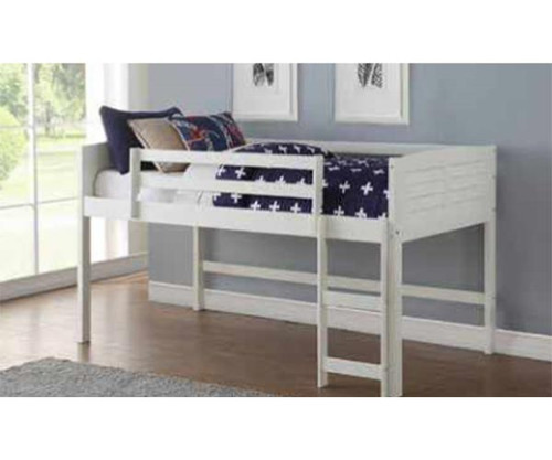 Amherst Low Loft Bed White