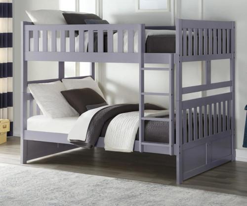 Stanford Full over Full Bunk Bed Gray