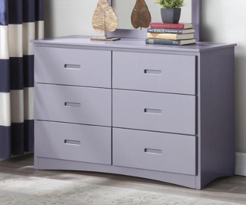 Stanford Six Drawer Dresser Gray