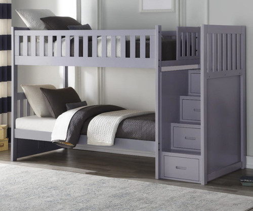 Stanford Stair Bunk Bed Gray