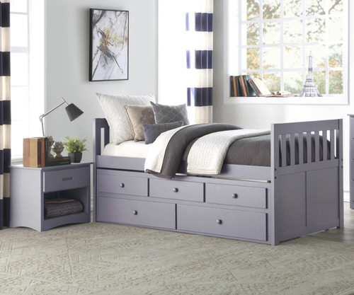 Stanford Captains Trundle Bed Gray