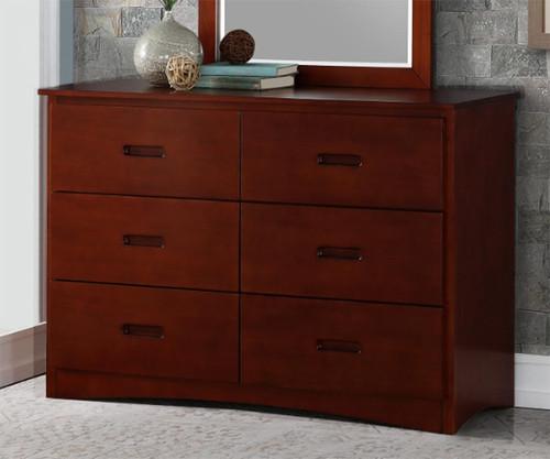 Stanford Six Drawer Dresser Cherry