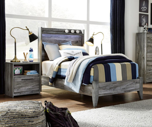 Baystorm Bookcase Panel Bed Twin Size