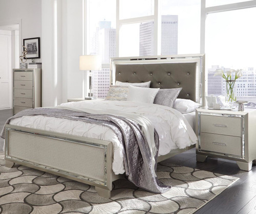 Lonnix Upholstered Panel Bed Full Size
