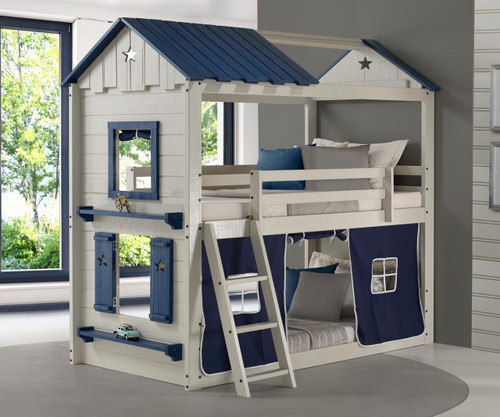 Star Gaze Bunk Bed with Blue Tent