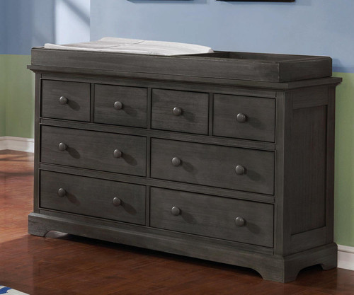 Allen House 8 Drawer Dresser with Changing Topper Weathered Dark Gray