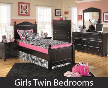 Girls Twin Bedrooms