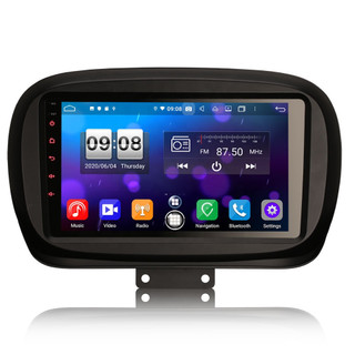 PbA FI8750F Android 10.0 After-Market GPS Radio For Fiat 500X
