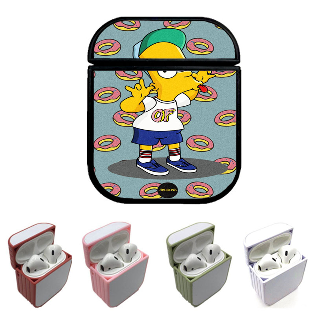 Of Supreme Bart Simpsons Custom Airpods Case Coverszy