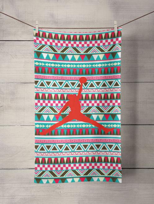 air jordan aztec pattern Custom Towel