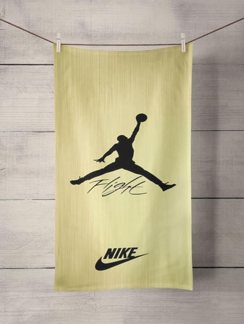 air jordan flight signature nike gold Custom Towel