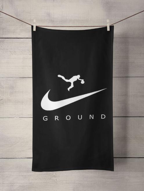 draw an air jordan logo Custom Towel