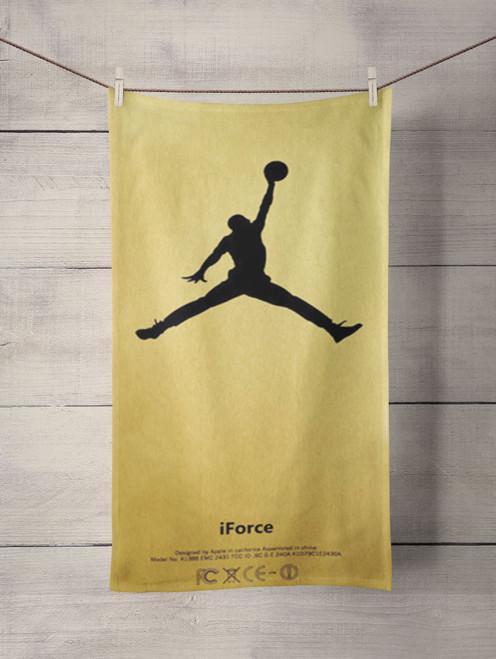 gold air jordan Custom Towel