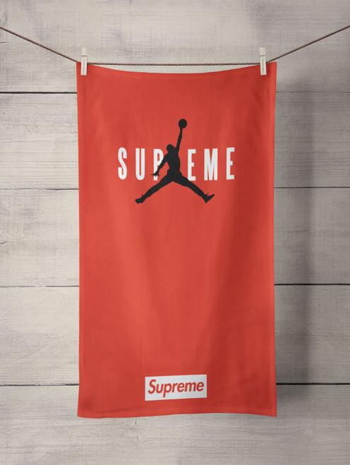 jordan supreme red Custom Towel