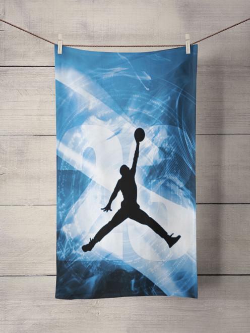 michael jordan blue 23 jump Custom Towel