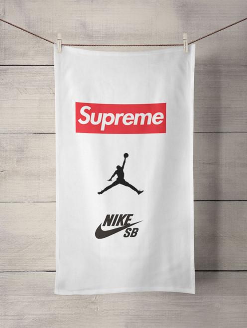 supreme nike jordan Custom Towel