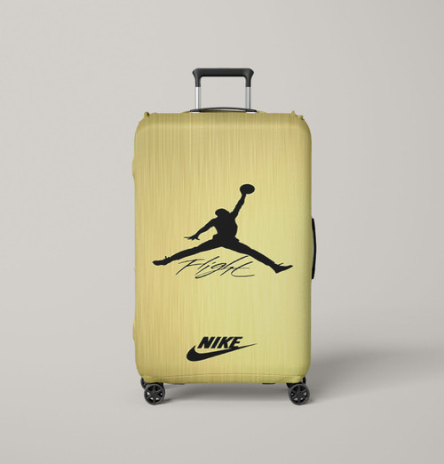 air jordan flight signature nike gold Luggage Cover